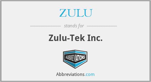 ZULU - Zulu-Tek Inc.