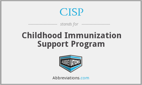 CISP - Childhood Immunization Support Program