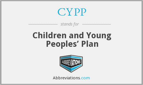 CYPP - Children and Young Peoples' Plan