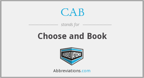 CAB - Choose and Book