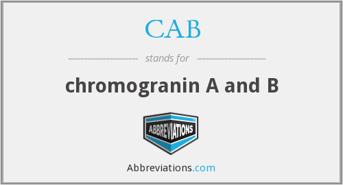 CAB - chromogranin A and B