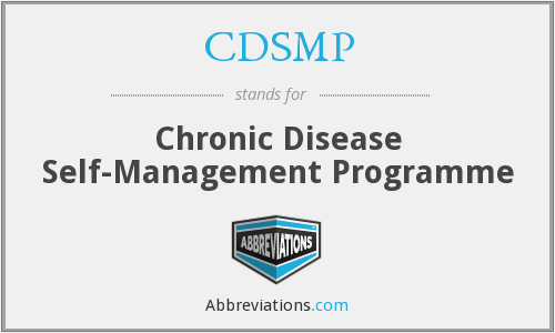 CDSMP - Chronic Disease Self-Management Programme