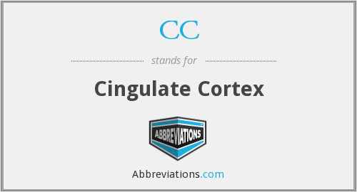 CC - cingulate cortex