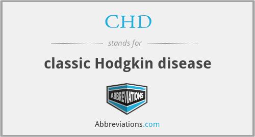 CHD - classic Hodgkin disease