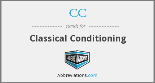 CC - Classical Conditioning