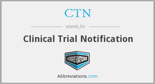 CTN - Clinical Trial Notification