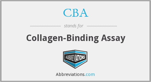 CBA - Collagen-Binding Assay