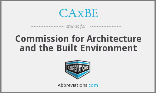 CAxBE - Commission for Architecture and the Built Environment