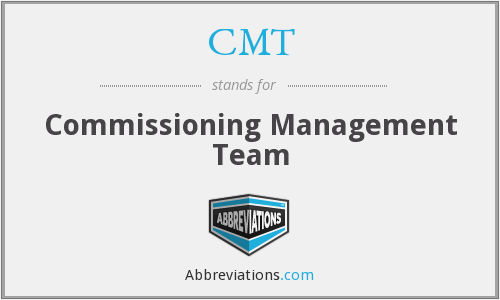 CMT - Commissioning Management Team