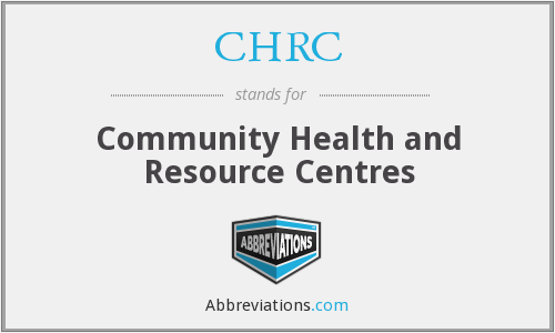 CHRC - Community Health and Resource Centres