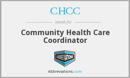 CHCC - Community Health Care Coordinator