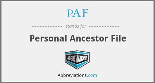 PAF - Personal Ancestor File