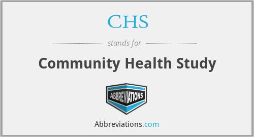 CHS - community health study