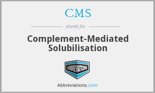 CMS - complement-mediated solubilisation