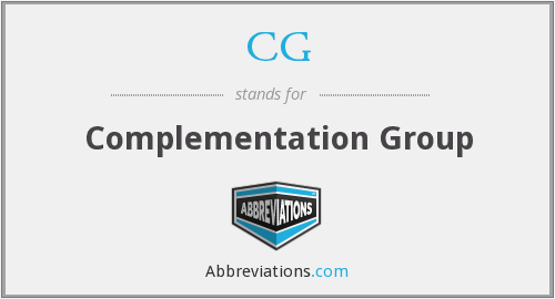 CG - complementation group