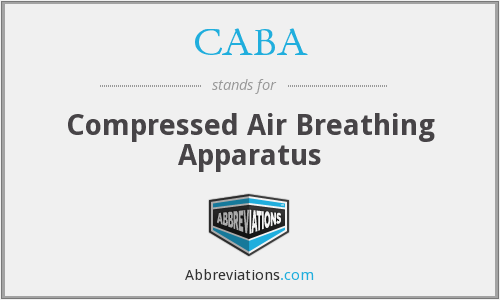 CABA - Compressed Air Breathing Apparatus