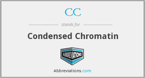 CC - condensed chromatin