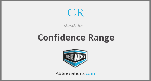 CR - confidence range