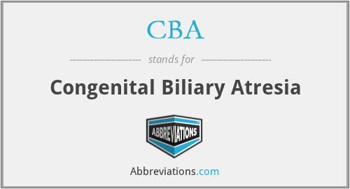 CBA - Congenital Biliary Atresia