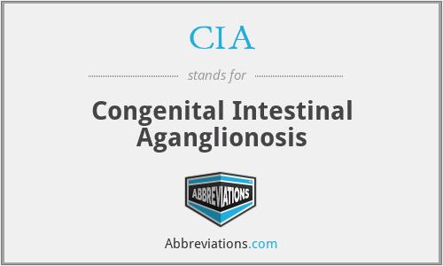 CIA - congenital intestinal aganglionosis