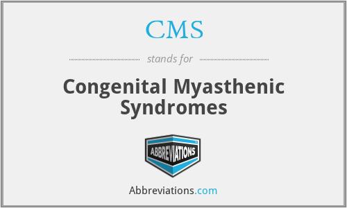 CMS - congenital myasthenic syndromes