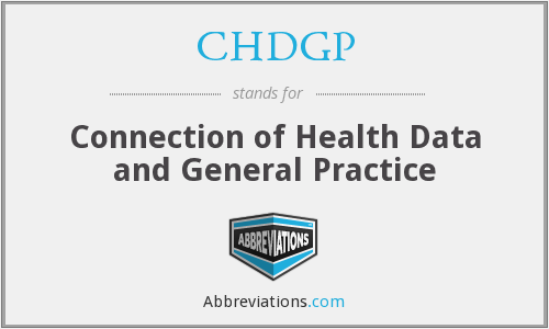 CHDGP - Connection of Health Data and General Practice