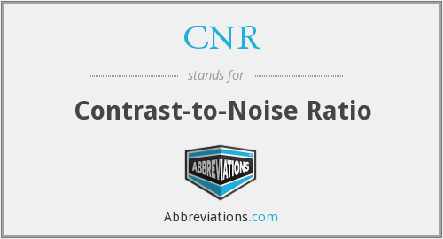 CNR - contrast-to-noise ratio