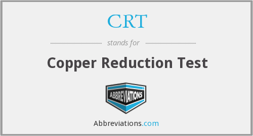 CRT - copper reduction test