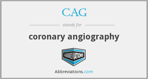 What does CAG stand for?