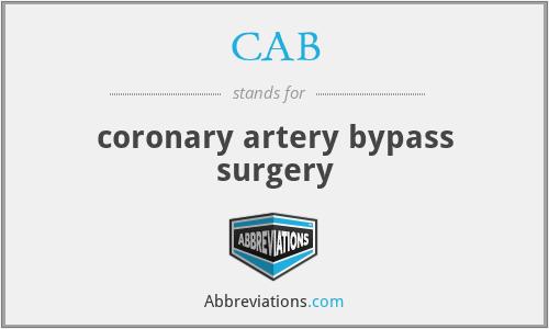 CAB - coronary artery bypass surgery