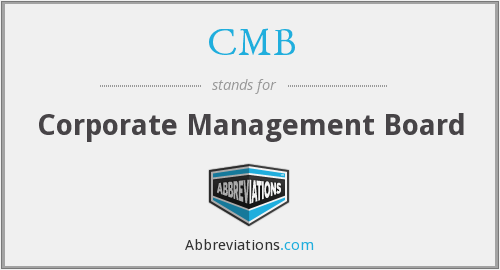 CMB - corporate management board