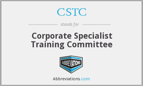 CSTC - Corporate Specialist Training Committee