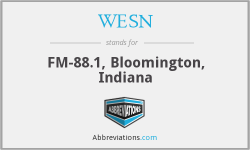 WESN - FM-88.1, Bloomington, Indiana