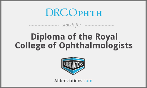 What does DRCOPHTH stand for?