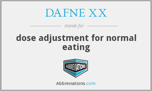 DAFNE XX - dose adjustment for normal eating