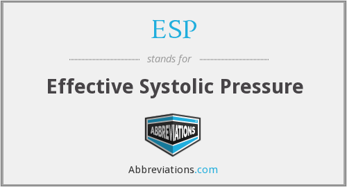 ESP - Effective Systolic Pressure