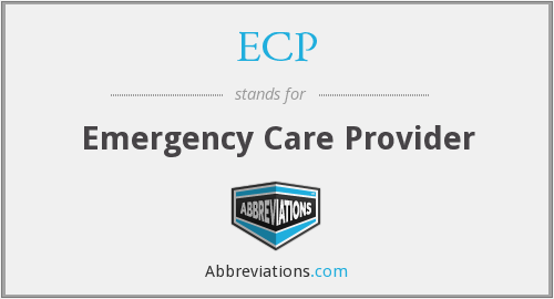 ECP - Emergency Care Provider