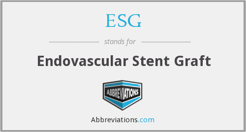 ESG - endovascular stent graft