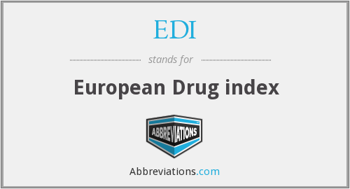 EDI - European Drug index