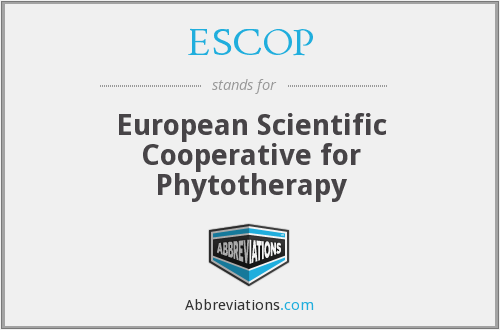 What does ESCOP stand for?