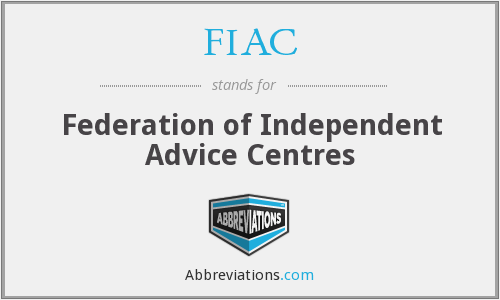 FIAC - Federation of Independent Advice Centres