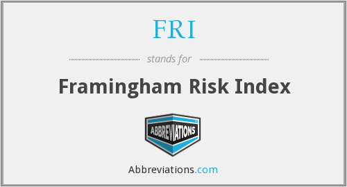 FRI - Framingham Risk Index