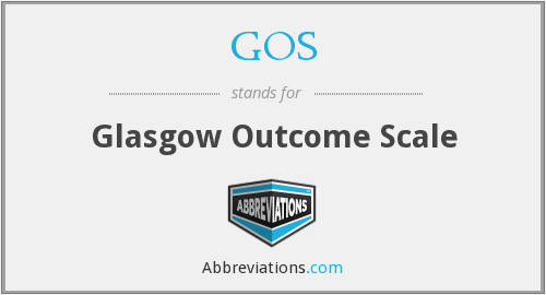 GOS - Glasgow Outcome Scale