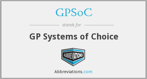What does GPSOC stand for?