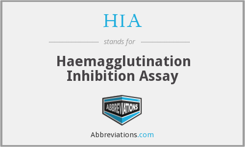 HIA - haemagglutination inhibition assay