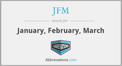 JFM - January, February, March