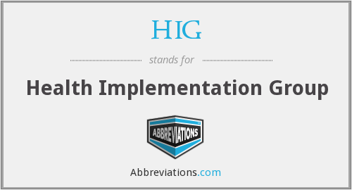 HIG - Health Implementation Group