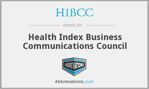 HIBCC - Health Index Business Communications Council
