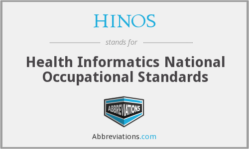 HINOS - Health Informatics National Occupational Standards