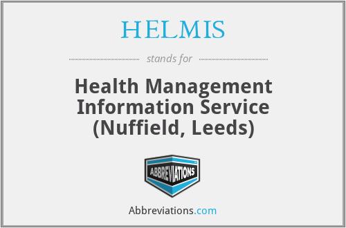 HELMIS - Health Management Information Service (Nuffield, Leeds)